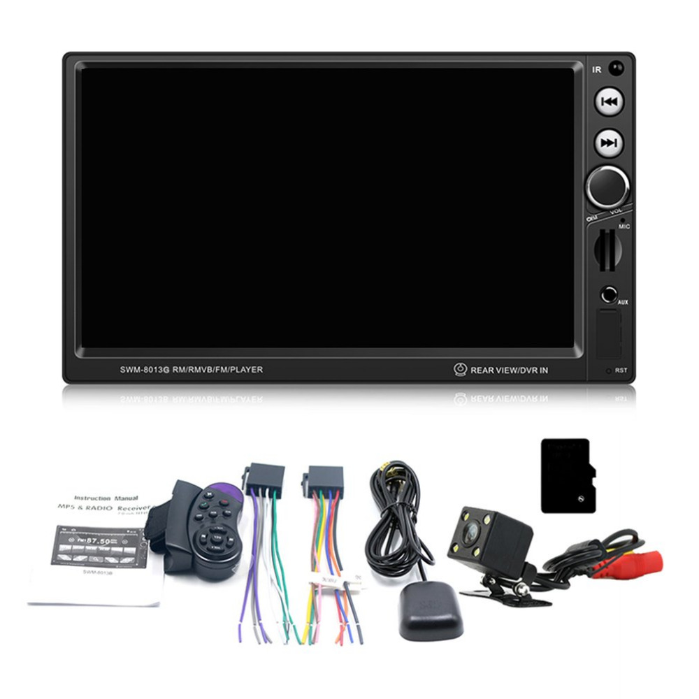7-Inch Large Screen GPS Navigation Car DVD Vehicle Audio Video Player Support Brake Prompt Bluetooth Mini TF Card New original new den so dvd navigation mechanism rae3370 for toyo ta b9004 b9001 vw mercedes lexuss audi 2g car audio gps