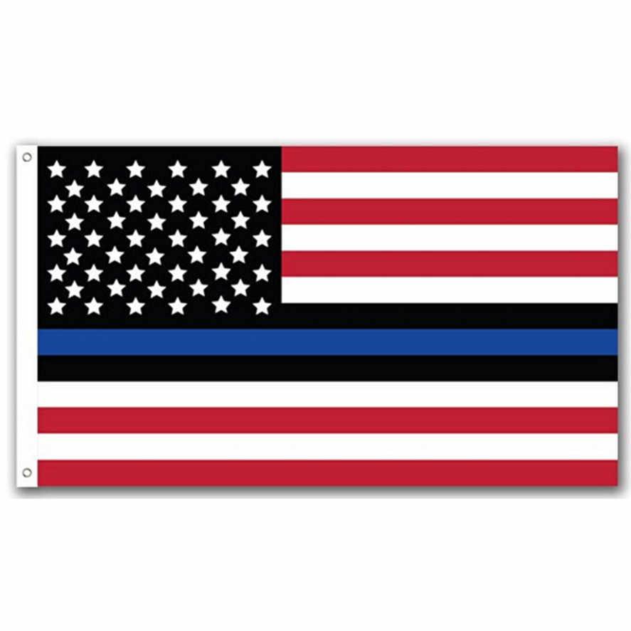 Новый 1 шт. 90*150 см Американский флаг тонкая Голубая линия американский флаг полиция жизни 3x5 футов металлические люверсы США Флаги 0509 #30