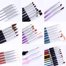 Набор кистей для рисования ногтей декорация для ногтей градиент линия кисти Кристалл акриловая тонкая ручка-лайнер для рисования Инструменты для ногтей Удлинительный УФ-гель