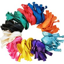 METABLE 12 inch balloons Multi colored 110 Pcs Premium Metallic Jewel balloons, bulk of Rainbow Assorted Color latex