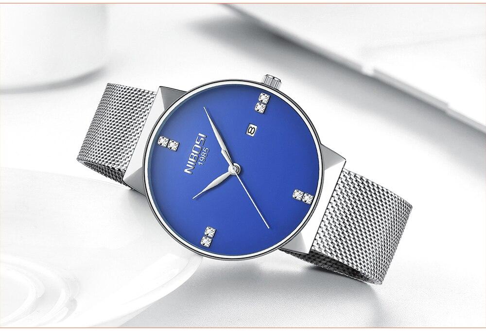 NIBOSI 2018 New Fashion Simple Watch Slim Mesh Band Mens Dress Watches Top Brand Luxury Male Relogio Masculino Quartz Wristwatch (21)