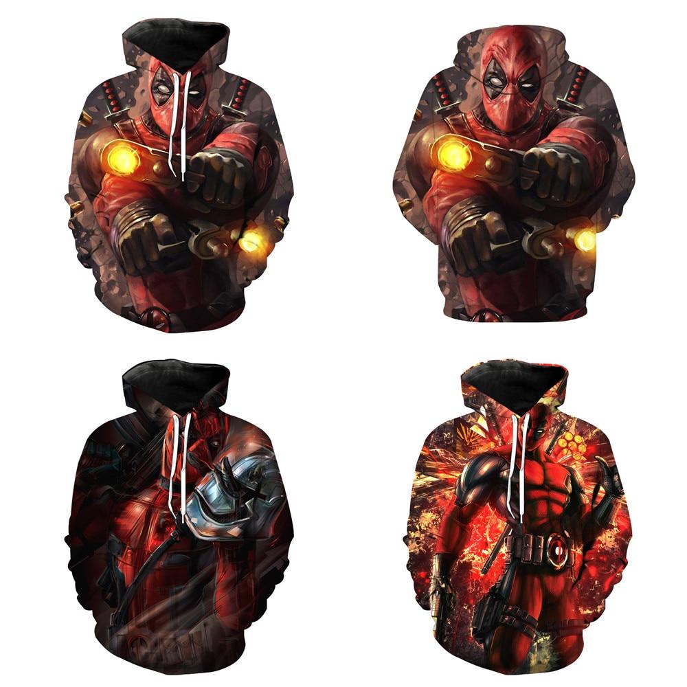 Wade Winston Wilso Deadpool 2 Cosplay Men Costumes 3D Full Print  Hoodies Sweatshirt Spring Streetwear Outwear Jackets