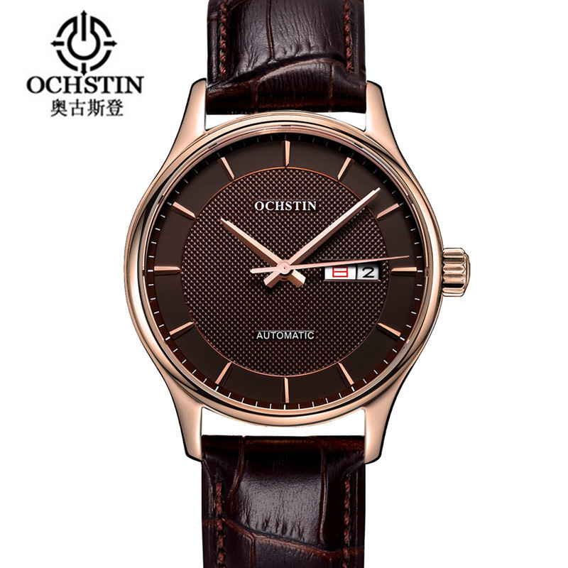 Ochstin Time-limited 2016 Men Mechanical Watch Montre Homme Mens Watches Top Brand Luxury Leather Automatic Women Clock Hour cadisen new design bezel golden watch mens watches top brand luxury montre homme clock men automatic skeleton watch