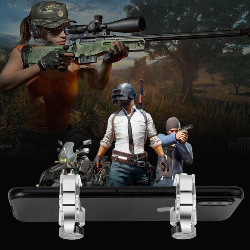 2 sztuk telefon komórkowy gra ogień przycisk inteligentny telefon Metal gra wyzwalacz L1 R1 Shooter dla iphone noże Out / Survival Rules / PUBG