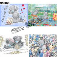 DIY 5D Diamond Painting Cross Stitch Doll Bear Series Picture Embroidery Mosaic Painting Children S House