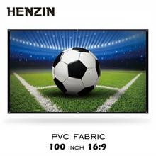 100 дюймов настенный ПВХ проекционный экран 16:9 матовый белый портативный проектор HD экран для домашнего кинотеатра