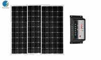 36v 300w Solar Panel Kit Controller 12 v/24 v 30A Panel Solar 100w 12v 3 PCs Solar Auto Batterie Ladegerät Caravanas Autocaravanas