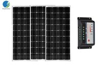 36v 300w Solar Panel Kit Controller 12v/24v 30A 100w 12v 3 PCs Car Battery Charger Caravanas Autocaravanas