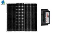 36v 300w Solar Panel Kit Controller 12v/24v 30A Panel Solar 100w 12v 3 PCs Solar Car Battery Charger Caravanas Autocaravanas