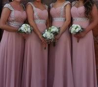 Stock Clear Cheap A line sweetheart elegant off shoulder cheap bridesmaid dresses Wedding party dresses robe de soiree