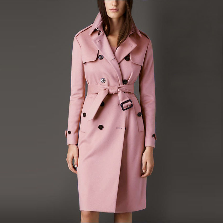 Aliexpress.com : Buy Belted Wool Coat Women Pink Cashmere Brand