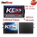 2017 Mais Novo KESS V2 FW V4.036 V2.3 OBD2 Gerente Sintonia Kit mestre Ver + V6.070 Programador ECU Ferramenta KTAG K tag-com ECM titanium