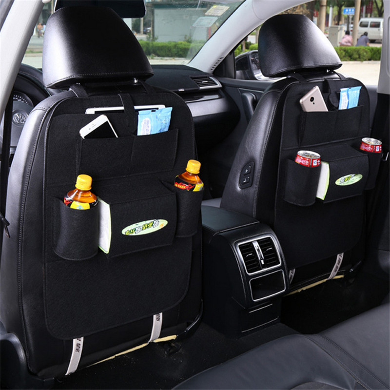 Car Rear Seat Organizer Universal Car Pocket Felt Covers Backseat Holder Multi-Pockets Container Stowing Tidying Bag In The Car