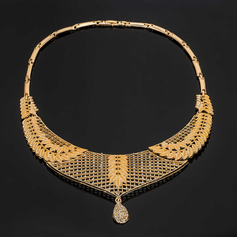 MUKUN2019 NEUE hochzeit Mode Brautjungfer Schmuck Sets Für Frauen Kristall Schmuck Set Hochzeit Nigerian Perlen Halskette Schmuck-Set