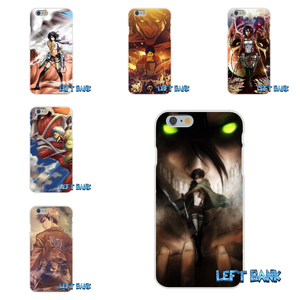 Shingeki no Kyojin Soft Silicone TPU Transparent Cover Case For iPhone 4 4S 5 5S 5C SE 6 6S 7 Plus