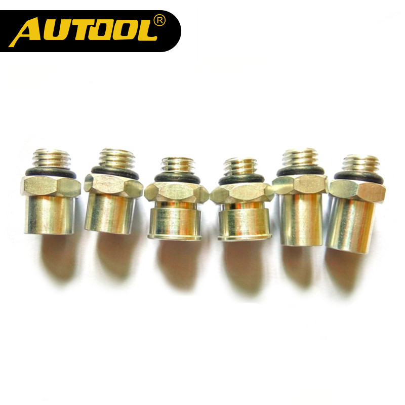 AUTOOL CT150 CT200 Motorcycle Fuel Injector Nozzle Connector Tester Motor Parts Autocycle Accessories Autobike Scooter 6PC