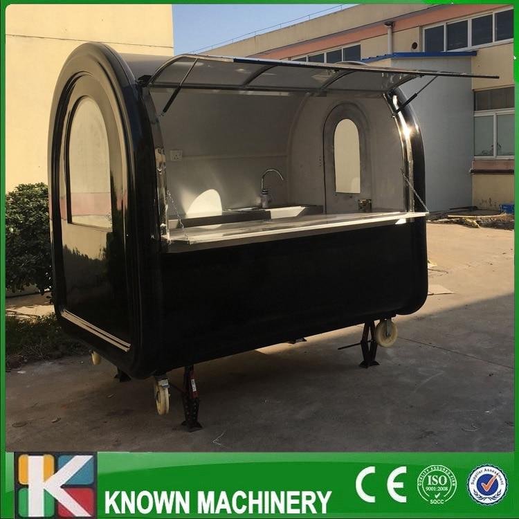 Kn-220 мобильный закуски тележки/Трейлер черный цвет настроены для продажи с Бесплатная доставка по морю ...