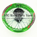 "Green Rims 1.85x12""inch for dirt bike pit bike KTM CRF Kayo BSE Apollo Rear  Wheels spare parts"