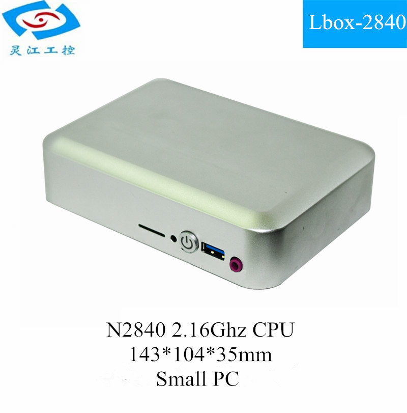 Fanless Small Size Linux Pocket Mini pc (Lbox-2840)