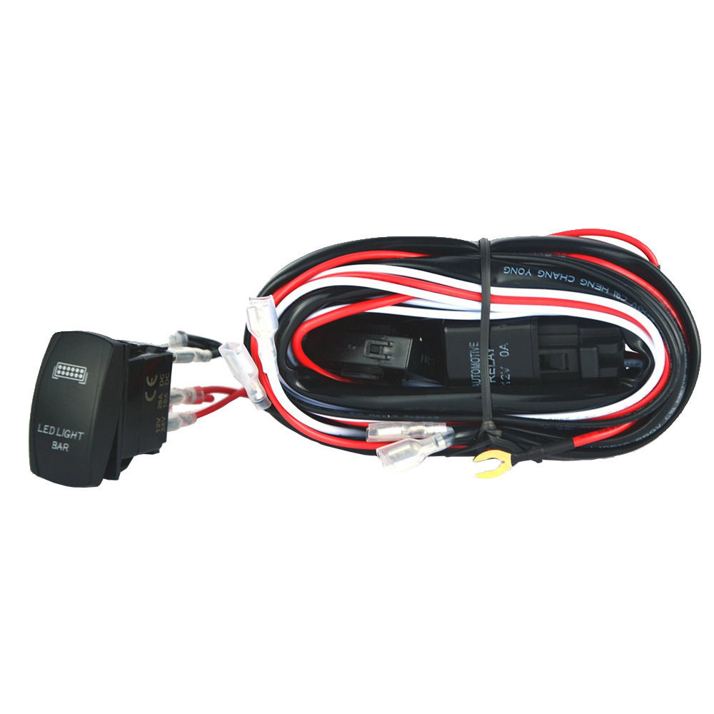 EE support 40A 300W Wiring Harness Kit LED Light Bar Laser Rocker Switch Fuse Zombie 3 aliexpress com buy ee support 40a 300w wiring harness kit led rocker switch wiring harness at et-consult.org