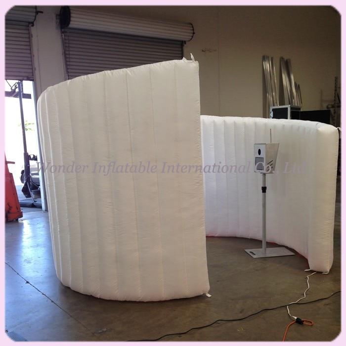 10ft witte spiraal opblaasbare photo booth met LED strips photo booth - Feestversiering en feestartikelen