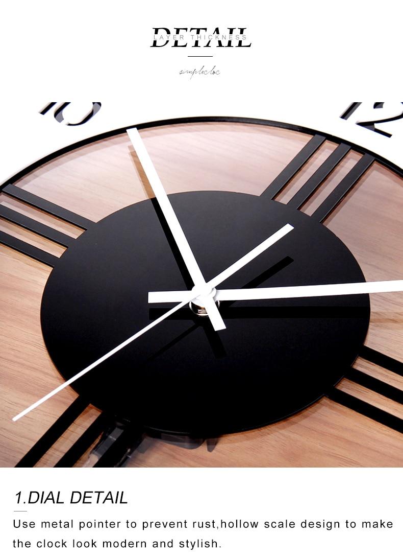 acrylic pendulum modern design clock face