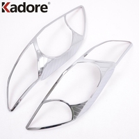 For Toyota Corolla 2010 2011 High Quality ABS Chrome Plastic Front Headlight Lamp Cover Frame Trims Auto Accessories 2pcs/set