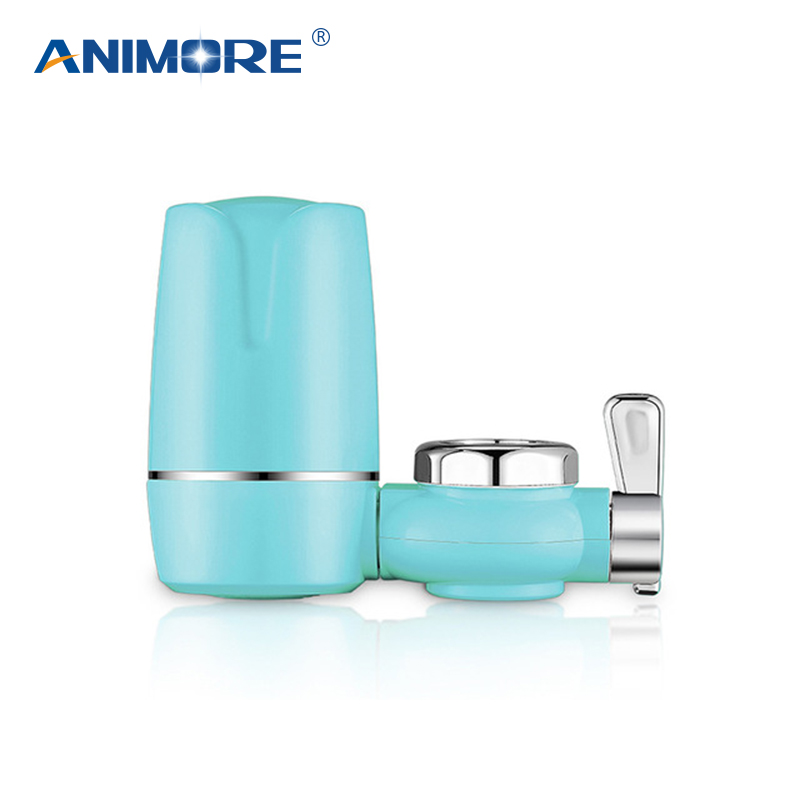 ANIMORE Kitchen Tap Water Purifier Faucet Washable Ceramic Water Filter Mini Water Purification Rust Bacteria Removal FW-01 tap water purifier kitchen faucet washable ceramic percolator mini water purification activated carbon faucet water purifier