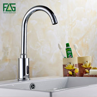 FLG Bathroom Automatic Touch Free Hot & Cold Sensor Faucets water saving Inductive electric Water Tap mixer power