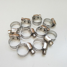 Stainless Steel Hose Clamps Pipe Clips Cooker Hood for Water / Gas Irrigation 100 pcs/lot