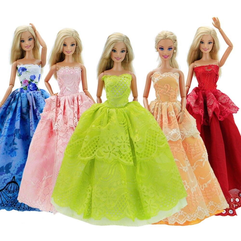 Random Pick 30Pcs = 10Pcs Princess Doll Bröllopsklänning Klänning - Dockor och tillbehör - Foto 4