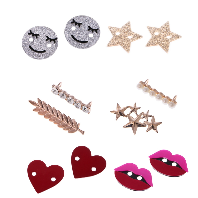 1Pair Shoelaces Clips Decorations Charms Faux Pearl Rhinestone Shoes Accessories Gifts