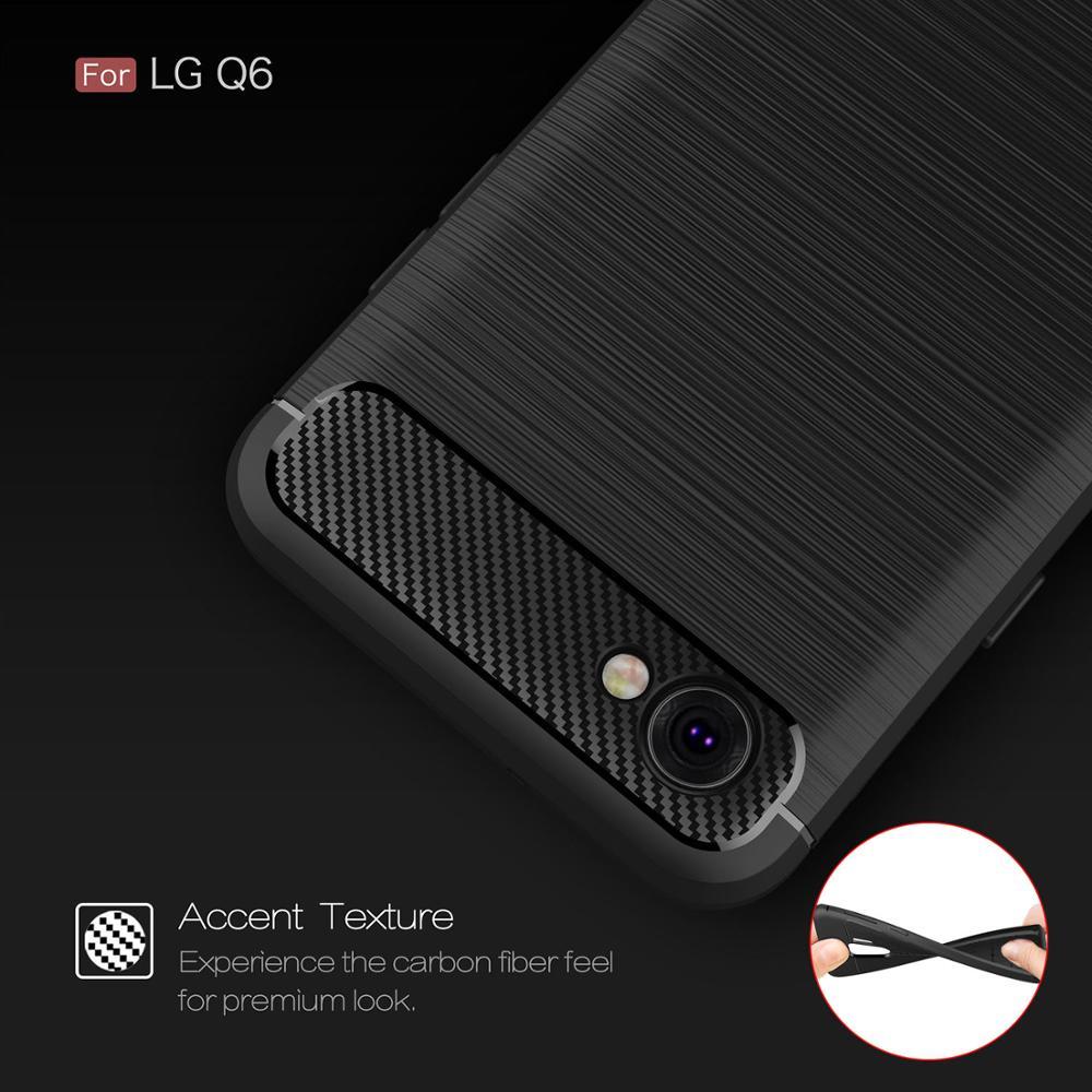 Carbon Fiber Coque Cover Sfor Lg Q6 Case For Lg Q6 Q6a Q7 Q70 Q Stylus Plus Alpha M700 M700a Q610zm Phone Back Coque Cover Case