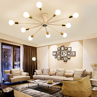A1 10 Heads simple modern ceiling lamps Mediterranean master iron study lamp creative personality