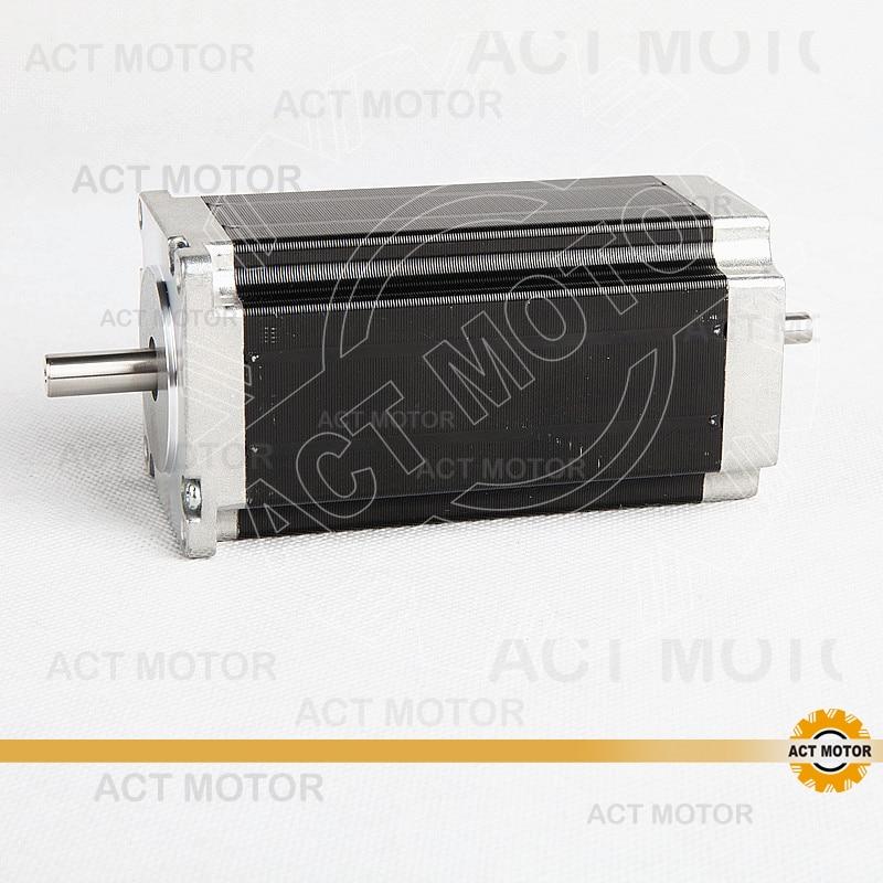 ACT Motor 1PC Nema23 Stepper Motor 23HS2442B Dual Shaft 4-Lead 425oz-in 112mm 4.2A Bipolar CE ISO ROHS CNC Router Laser Plasma