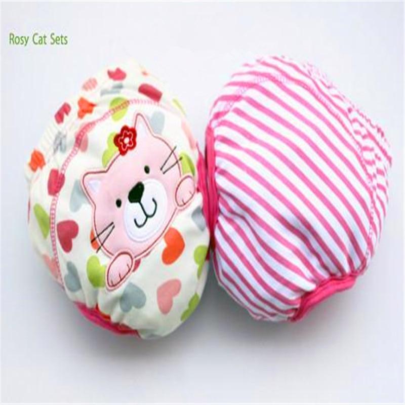2 unids / lote 4 Capas Impermeable Paño Del Bebé Pañales Boy - Pañales y entrenamiento para ir al baño - foto 6