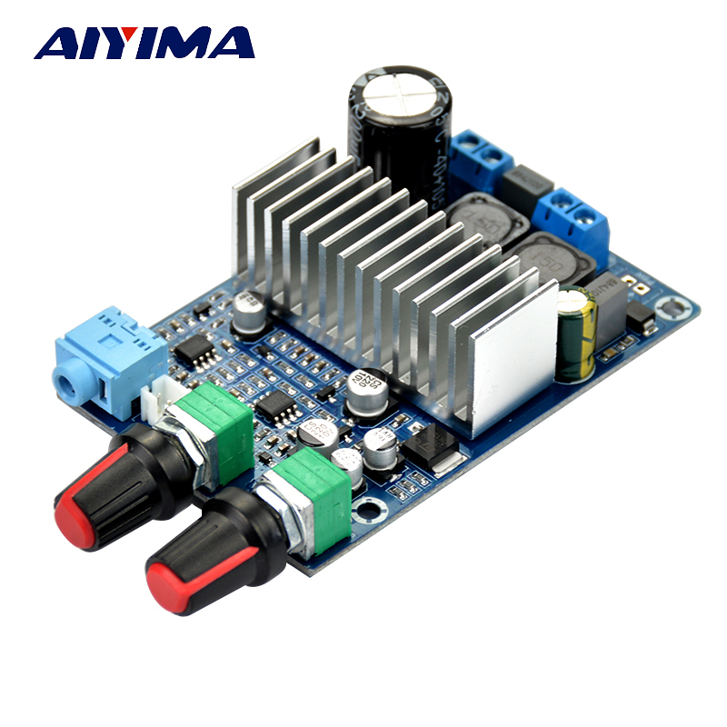 Aiyima DC12-24v TPA3116 Subwoofer Amplifier Board Support 100W Bass Output Updated