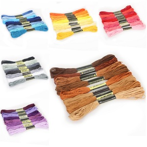 8pcs/Set Similar DMC Threads Cross Stitch Floss Cotton 8 meters Embroidery Thread Floss Sewing Skeins Craft Knitting(China)