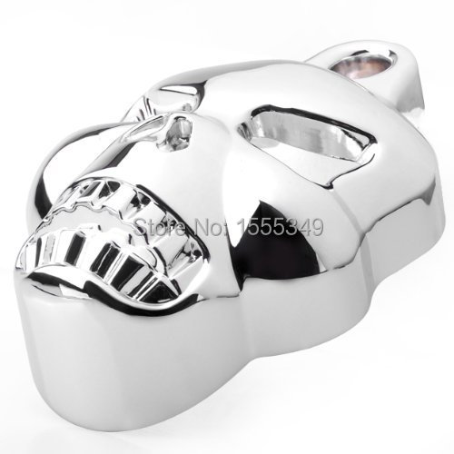 ФОТО Motorcycle Parts Chrome Skull Horn Carburetor Cover for Harley Davidson Big Twins V-Rods Stock Cowbell 1992-2013