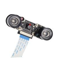 ir led Raspberry Pi 3B Camera Module 1080p 5MP Night Vision Camera + 2 pcs IR Sensor LED Light for Raspberry Pi 3/2 Model B (5)