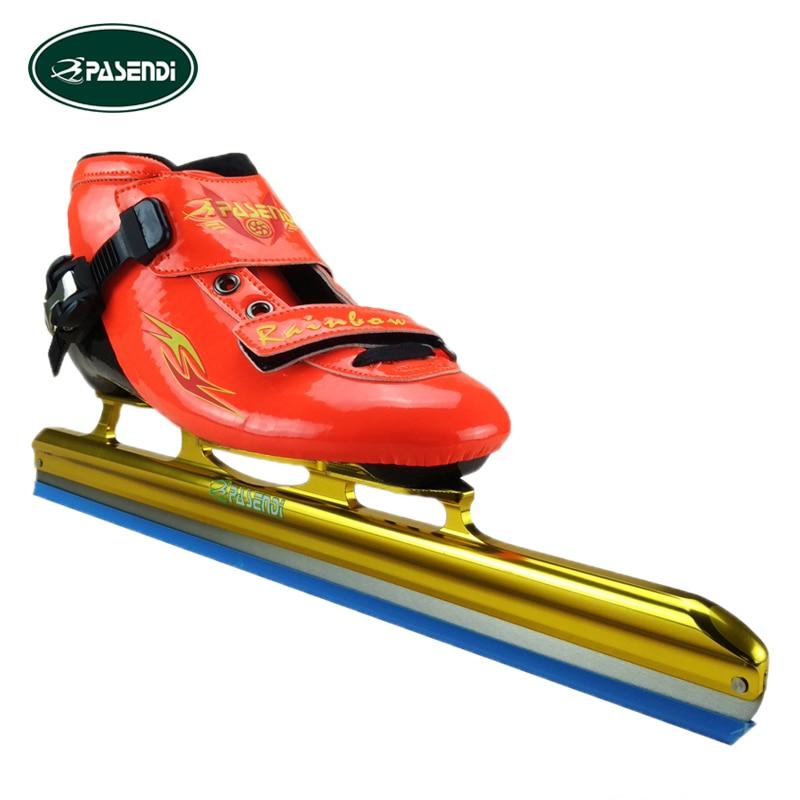 Prix pour PASENDI Professionnel Patins à roulettes Chaussures Femmes Rouge hockey sur glace patins glace De Patinage pour Enfants Glace Lame Patines Rouleaux De Patinage