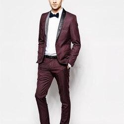 (Jacke + Pants) Mens Slim Fit Anzüge Plus Größe XS-6XL vestido de festa Männer Hochzeit prom Anzug Mit Hosen Männer Formale tragen