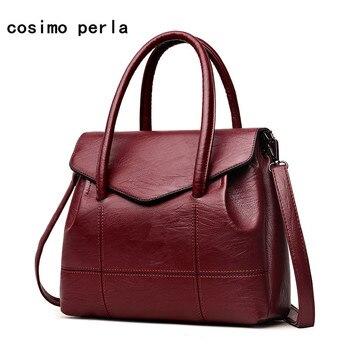 Europe Simple Business Women Handbags Fashion Soft Leather Cover Totes Crossbody Bags Ladies 2018 Luxury Designer bolsa feminina grande bolsas femininas de couro