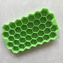 Wholesale silica gel honeycomb ice lattice block maker mold 37 grid silicone baking cake mould