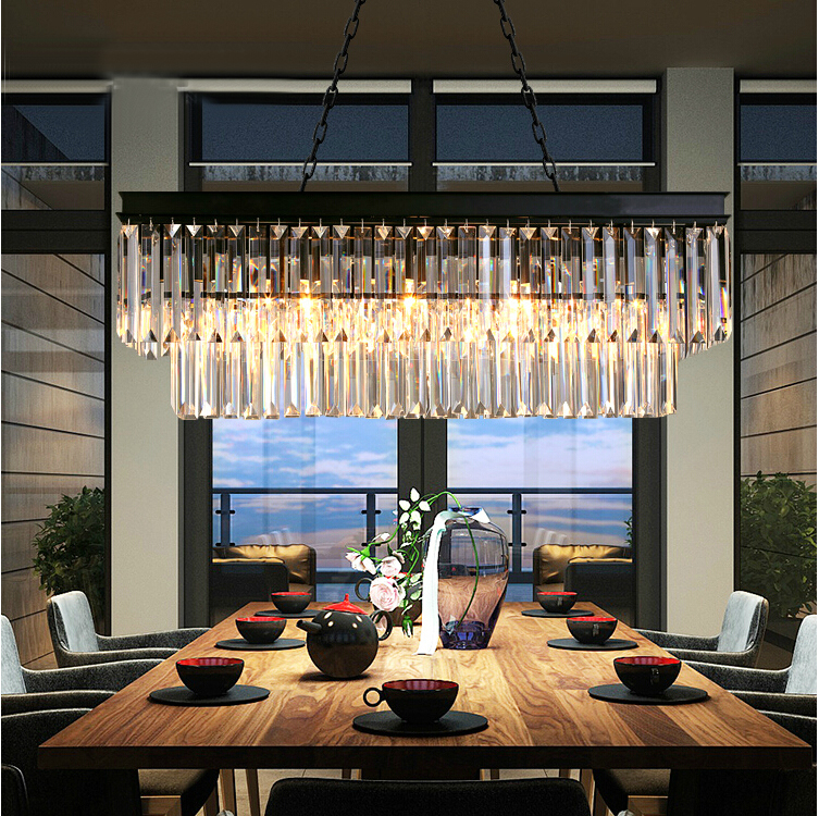 LEDream American, wrought iron chandelier, modern crystal restaurant sitting room the bedroom light creative lamps ledream contracted and creative personality sitting room dining room art glass chandelier american cherry branches pendent lamp