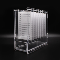 Acrylic Eyelash Organizer Box With 8 Pieces Lashes Holder Accessory Container Professional Eyelashes Extension Application