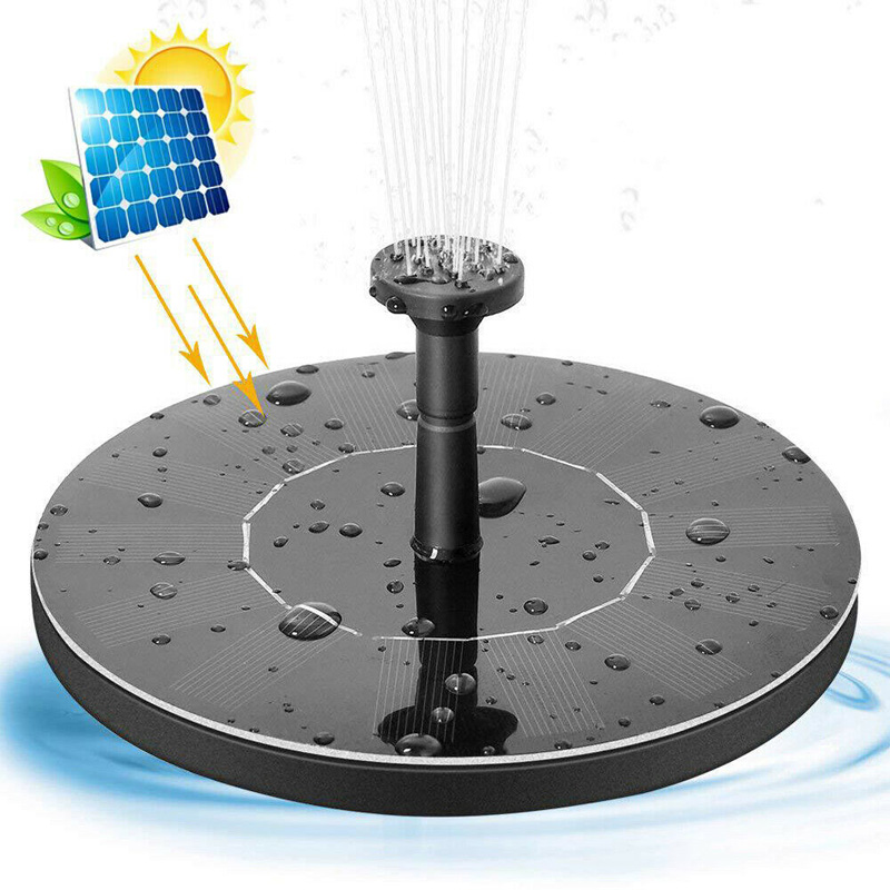 Image 2 - Water Floating Solar Powered Fountain Pump Solar Fountain Pump Brushless Bird Bath Fountain Pump Kit With Different Spray Heads-in Fountains & Bird Baths from Home & Garden