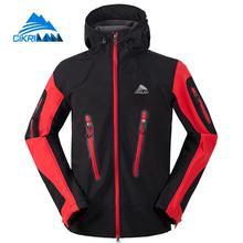 Cikrilan Sport Softshell Jackets Autumn Winter Windstopper Water Resistant Hiking Outdoor Jacket Men Camping Coat Hooded Casacos