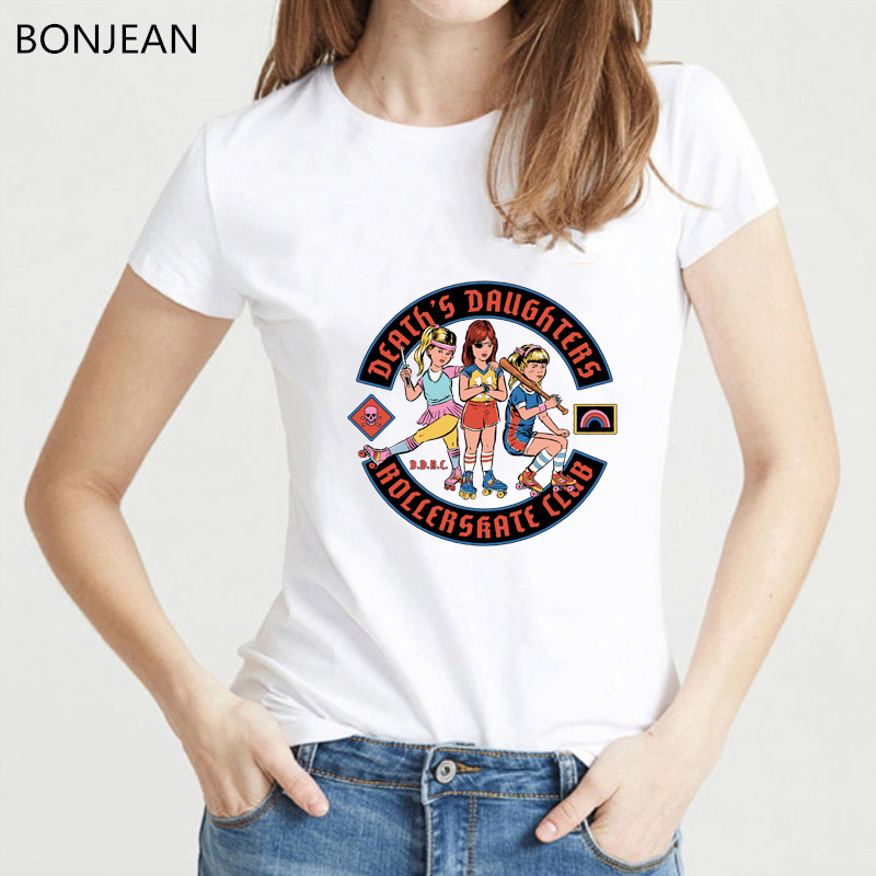 America Pop Horror Demons Satan shirt Graphic funny t shirts women Harajuku Ulzzang Tumblr T shirt Vintage White Femme Tops in T Shirts from Women 39 s Clothing