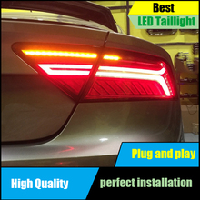 цена на Car Styling For Audi A7 Tail Light Assembly 2011-2016 LED Tail Lights Rear Lamp moving turn signal light Taillight Accessories